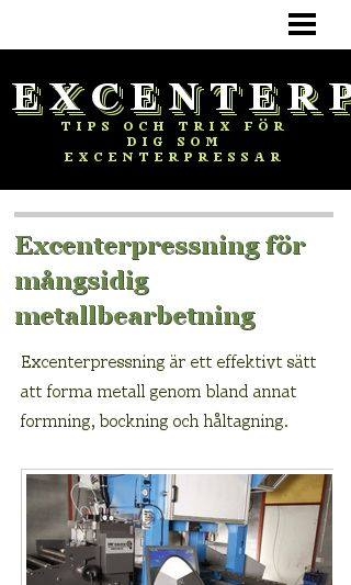Mobile preview of excenterpressning.se