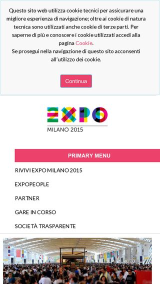 Mobile preview of expo2015.org