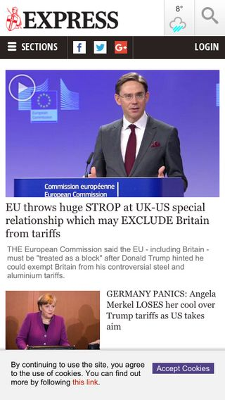 Mobile preview of express.co.uk