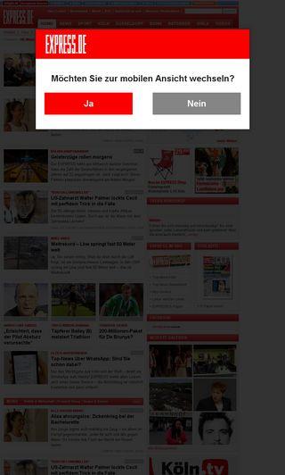 Mobile preview of express.de
