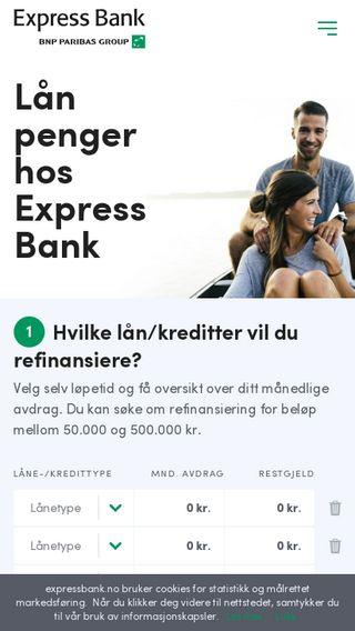 Mobile preview of expressbank.no