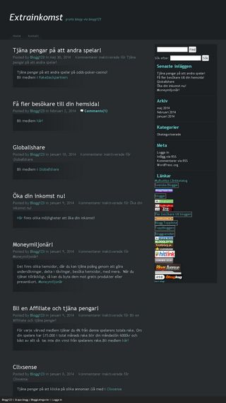 Mobile preview of extrainkomst.blogg123.se