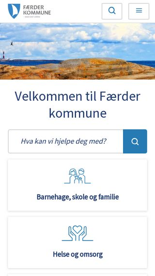 Mobile preview of faerder.kommune.no