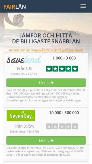 Mobile preview of fair-laan.se