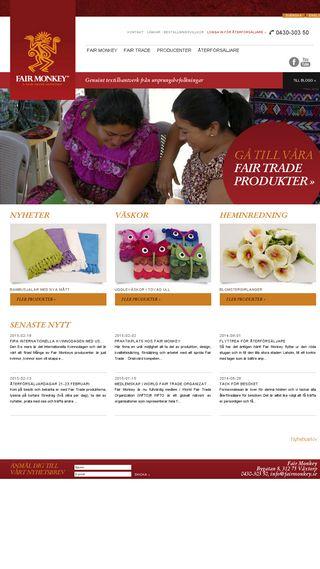 Mobile preview of fairmonkey.se