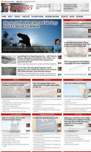 Mobile preview of falkvinge.net