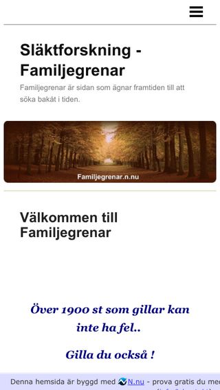 Mobile preview of familjegrenar.n.nu
