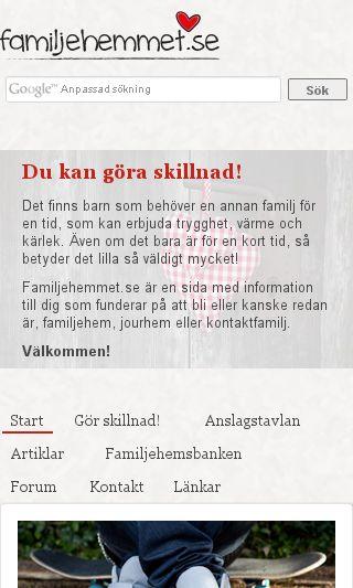 Mobile preview of familjehemmet.se