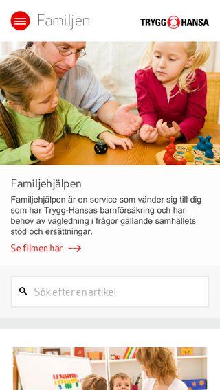 Mobile preview of familjen.trygghansa.se