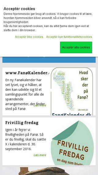 Mobile preview of fanoe.dk