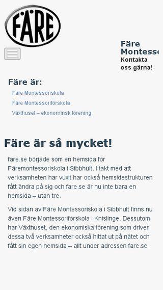 Mobile preview of fare.se
