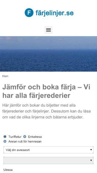 Mobile preview of farjelinjer.se