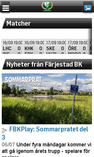 Mobile preview of farjestadbk.se