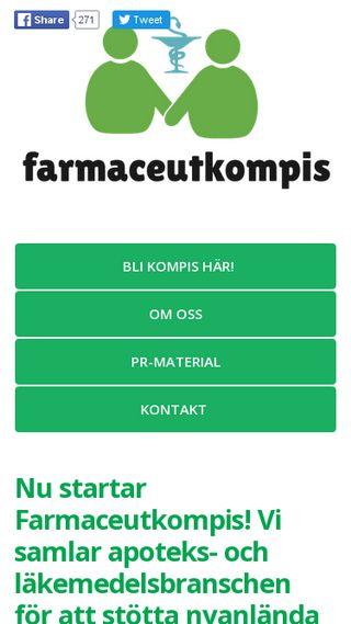 Mobile preview of farmaceutkompis.se