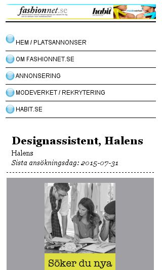 Mobile preview of fashionnet.se
