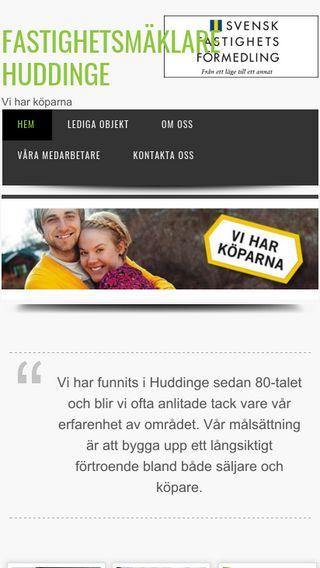 Mobile preview of fastighetsmaklarehuddinge.se
