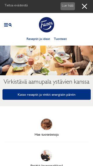 Mobile preview of fazer.fi