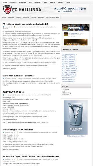 Mobile preview of fchallunda.se