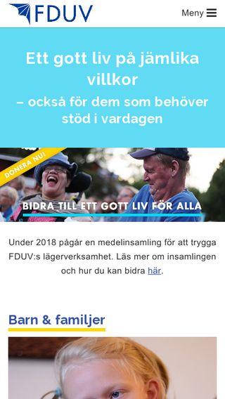 Mobile preview of fduv.fi