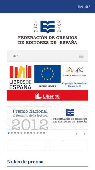 Mobile preview of federacioneditores.org