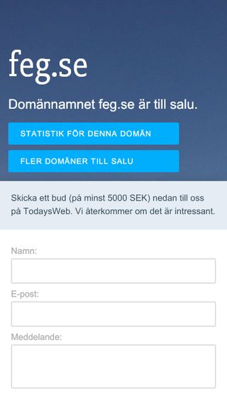 Mobile preview of feg.se