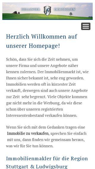 Mobile preview of fellinger-immobilien.de