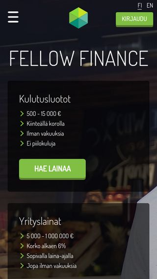 Mobile preview of fellowfinance.fi