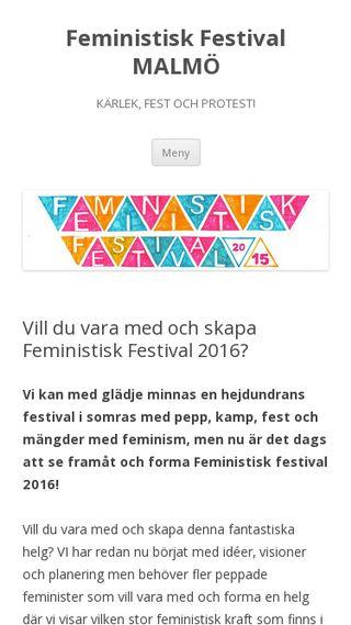 Mobile preview of feministiskfestival.se