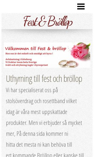 Mobile preview of festobrollop.se