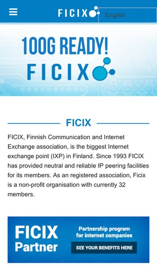 Mobile preview of ficix.fi