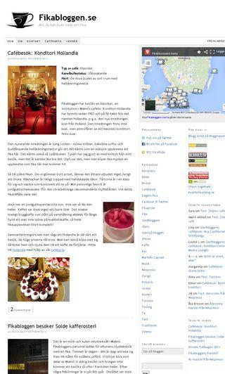 Mobile preview of fikabloggen.se