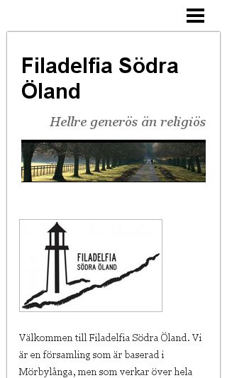 Mobile preview of filadelfiaoland.se
