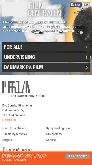 Mobile preview of filmcentralen.dk