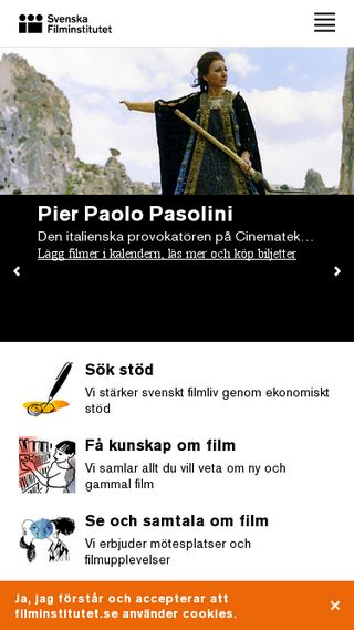 Mobile preview of filminstitutet.se