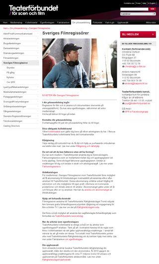 Mobile preview of filmregissorerna.se