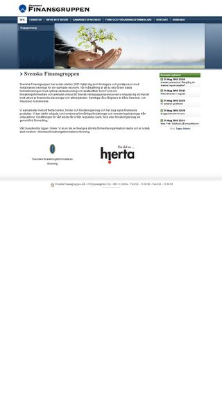 Mobile preview of finansgruppen.se