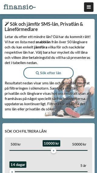 Mobile preview of finansio.se