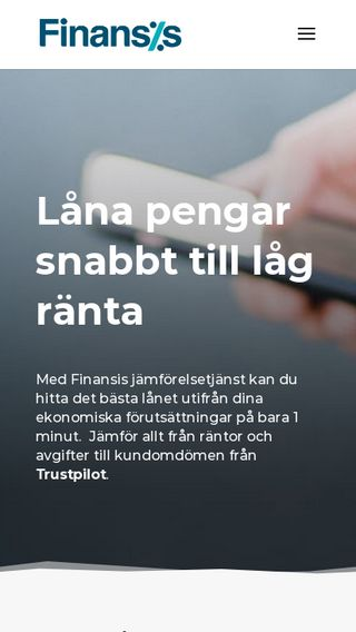 Mobile preview of finansis.se
