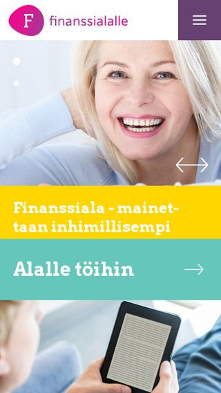 Mobile preview of finanssialalle.fi
