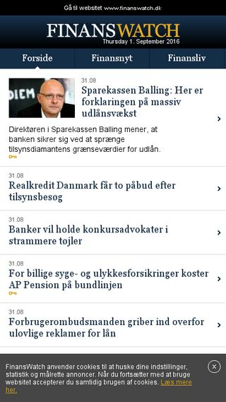 Mobile preview of finanswatch.dk