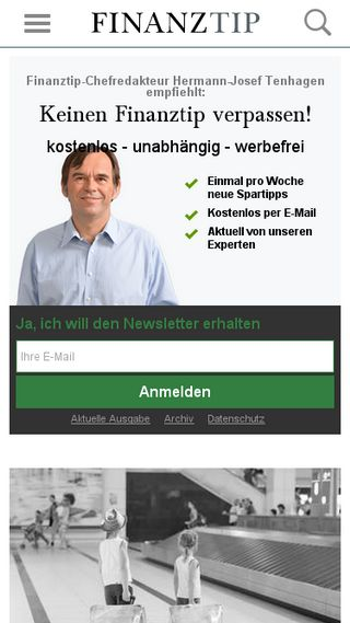 Mobile preview of finanztip.de