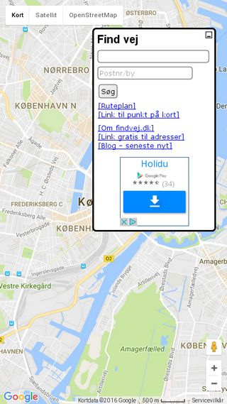 Mobile preview of findvej.dk