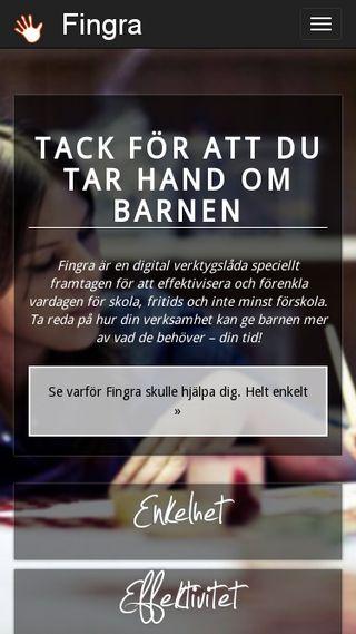 Mobile preview of fingra.se
