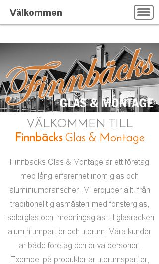 Mobile preview of finnbacksglas.se