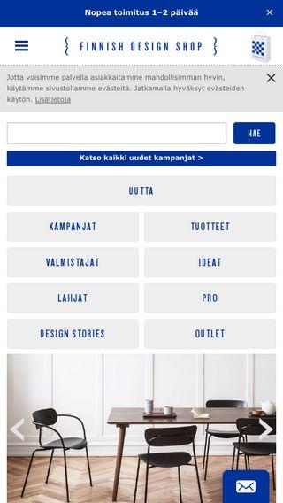Mobile preview of finnishdesignshop.fi