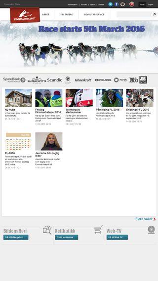 Mobile preview of finnmarkslopet.no