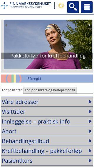 Mobile preview of finnmarkssykehuset.no