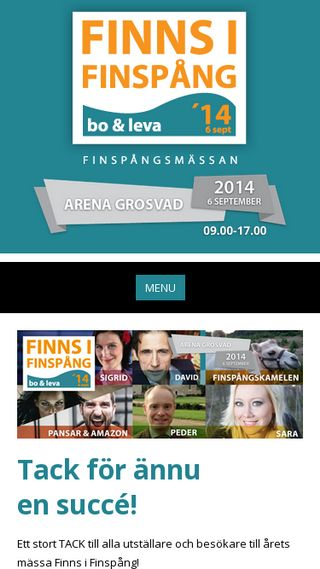 Mobile preview of finnsifinspang.se