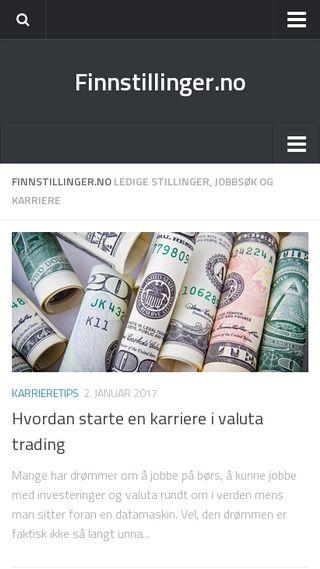Mobile preview of finnstillinger.no