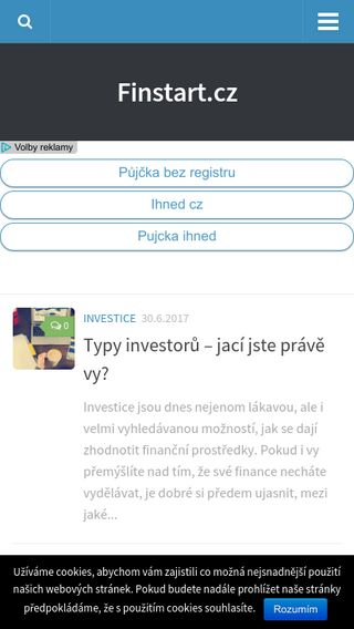Mobile preview of finstart.cz